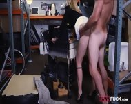 Hot Blonde Milf Gives Head And Pounded In Storage Room - scene 8