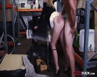 Hot Blonde Milf Gives Head And Pounded In Storage Room - scene 9