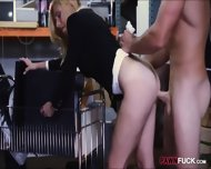 Hot Blonde Milf Gives Head And Pounded In Storage Room - scene 10