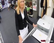 Hot Blonde Milf Gives Head And Pounded In Storage Room - scene 2