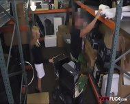 Hot Blonde Milf Gives Head And Pounded In Storage Room - scene 3