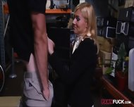 Hot Blonde Milf Gives Head And Pounded In Storage Room - scene 4