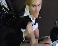 Hot Blonde Milf Gives Head And Pounded In Storage Room - scene 5