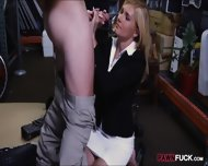 Hot Blonde Milf Gives Head And Pounded In Storage Room - scene 6