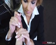 Hot Blonde Milf Gives Head And Pounded In Storage Room - scene 7