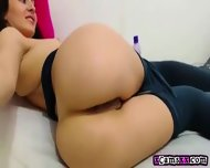 Hot Babe In Tights Fingers And Fucks Her Pussy And Ass - scene 9