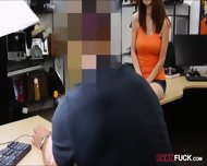 Busty Babe In Glasses Pawns Her Pussy And Gets Pounded - scene 3