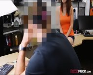 Busty Babe In Glasses Pawns Her Pussy And Gets Pounded - scene 4