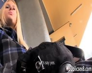 Big Titted Amateur Blonde Eurobabe Stuffed In Trains Toilet - scene 1