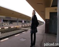 Big Titted Amateur Blonde Eurobabe Stuffed In Trains Toilet - scene 4