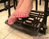 Bare Feet At The Gym - scene 12