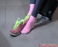 Bare Feet At The Gym - scene 4