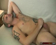 Hot Blond Dude Jason Lee Loves Giving His Big Feet A Good Rub Down - scene 10