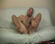 Hot Blond Dude Jason Lee Loves Giving His Big Feet A Good Rub Down - scene 6