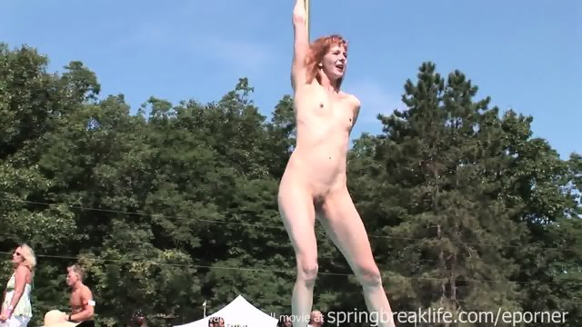 Naked Posing Outdoors
