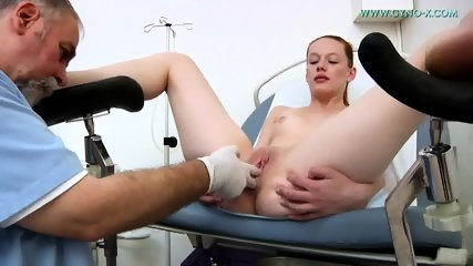 Doctor Plays With Cute Brunette's Pussy - scene 9