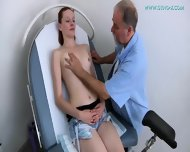 Doctor Plays With Cute Brunette's Pussy - scene 2