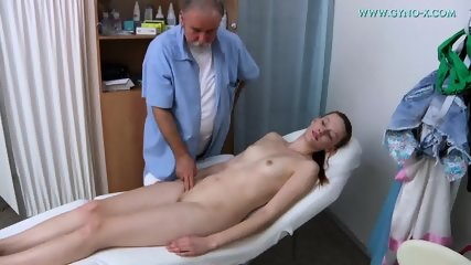 Doctor Plays With Cute Brunette's Pussy - scene 3
