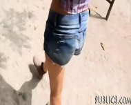Amateur Brunette Eurobabe Twat Fucked In Public For Money - scene 2
