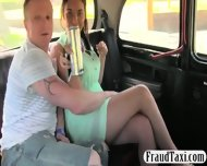 Busty Ho And Partner Fucking In The Cab With The Driver - scene 1