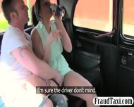 Busty Ho And Partner Fucking In The Cab With The Driver - scene 2