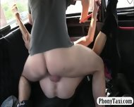 Punk Chick Pussy Pounded With Fake Driver At The Backseat - scene 12