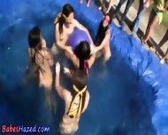 Lesbian Pool Hazing Fun - scene 8