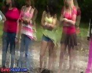 Lesbian Pool Hazing Fun - scene 7