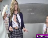 Sex Education In College Turns Into Wild And Hot Groupsex - scene 7