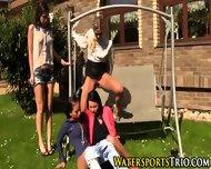 Classy Lesbo Group Piss - scene 12