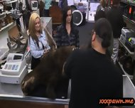 Two Big Tits Lesbians Sell Their Pussies At The Pawnshop - scene 1