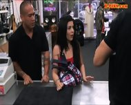 Cuban Chick Sells Her Tv Sells Her Pussy At The Pawnshop - scene 3