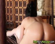 Nuru Masseuse Creampied - scene 6