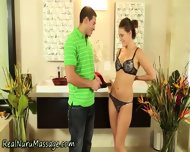 Oiled Babe Gets Creamed - scene 2