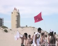 Coeds Party On The Beach - scene 8