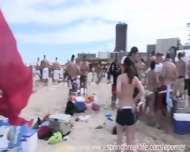 Coeds Party On The Beach - scene 11