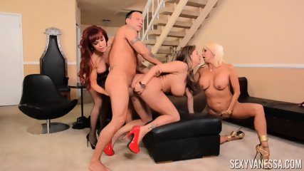 Three Mature Ladies For Lucky Man - scene 9