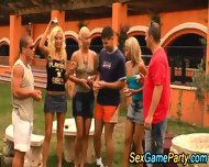 Outdoor Group Cumshot - scene 4