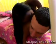 Afro Beauty Wanna Pound Her Boyfriends Ass Hole With Her Strapon - scene 5