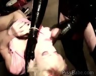 Blondie Sucks While Getting Pumped In Bdsm Threesome - scene 3
