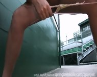 Pee Behind The Bleachers - scene 11