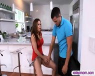 Stepmom Convinced Stepdaughter For 3some With Her Boyfriend - scene 4