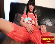 Tranny Ladyboy Solo Plays With Dildo - scene 1