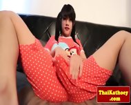 Tranny Ladyboy Solo Plays With Dildo - scene 2