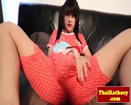 Tranny Ladyboy Solo Plays With Dildo - scene 3