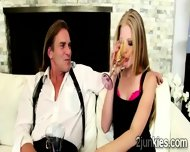 Perv Cheats On His Wife With A Gorgeous Blonde Teen - scene 2