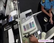 Sexy Latina Female Security Officer Gets Pursuaded To Pawn Her Body - scene 2