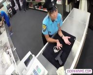 Sexy Latina Female Security Officer Gets Pursuaded To Pawn Her Body - scene 3