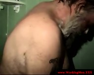 Mature Straight Bear Takes Fresh Shower - scene 10
