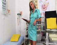 Blonde Nurse Plays With Vagina - scene 1